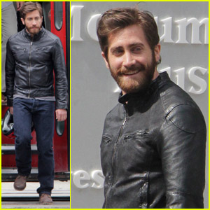 Jake Gyllenhaal: Biker Gear for 'An Enemy'