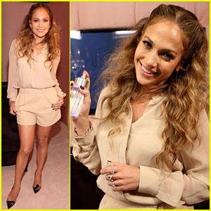 Jennifer Lopez: 'Glowing By JLo' Launch Event!