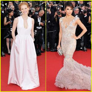 Jessica Chastain & Eva Longoria: Cannes Opening Ceremony!