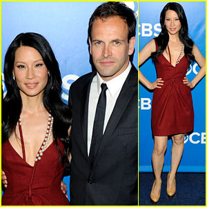 Lucy Liu: CBS Upfront with Jonny Lee Miller!