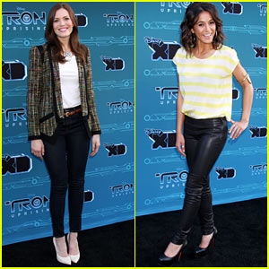 Mandy Moore & Emmanuelle Chriqui: 'Tron: Uprising' Twosome!