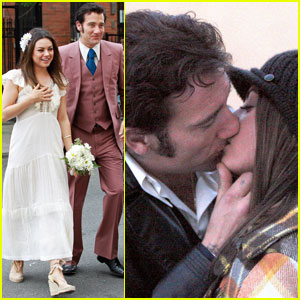 Mila Kunis & Clive Owen Kiss for 'Blood Ties'