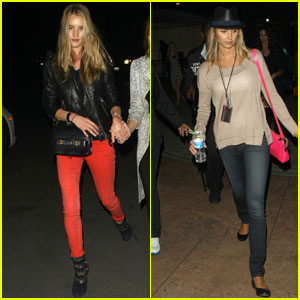 Rosie Huntington-Whiteley & Stacy Keibler: Coldplay Concert!