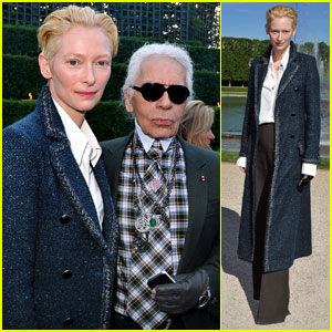 Tilda Swinton: Chanel Cruise Collection Show