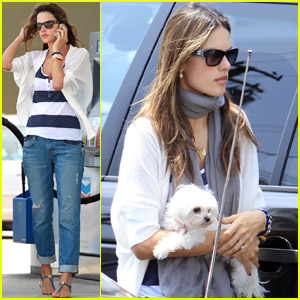 Alessandra Ambrosio: Vet's Office Stop with Lola