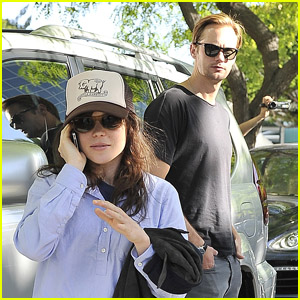 Alexander Skarsgard: Stanley Cup with Ellen Page!
