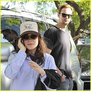 Alexander Skarsgard: Stanley Cup with Ellen Page!