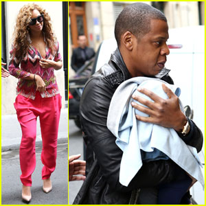 Beyonce & Jay-Z: Paris with Baby Blue!