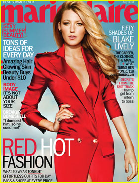 Blake Lively Covers 'Marie Claire' July 2012
