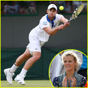 Brooklyn Decker Cheers on Andy Roddick at Wimbledon