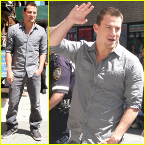 Channing Tatum: 'Letterman' Appearance!
