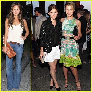 Dianna Agron & Chrissy Teigen: Coach Summer Party!