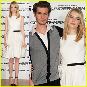 Emma Stone & Andrew Garfield: 'Spider-Man' Italy Photo Call!