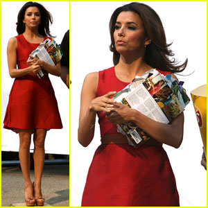 Eva Longoria: Lays Commercial Shoot in NYC!