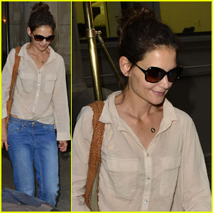 Katie Holmes: Sheer Shirt Stunner
