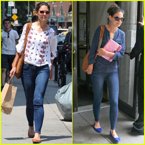 Katie Holmes: Union Square Stop