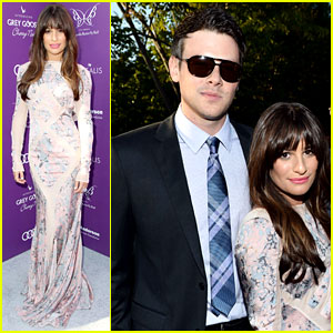 Lea Michele: Chrysalis Butterfly Ball with Cory Monteith!
