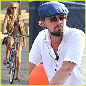Leonardo DiCaprio &#038; Erin Heatherton: Biking Twosome!