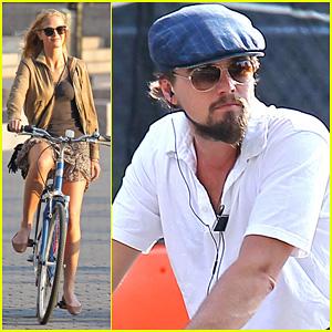 Leonardo DiCaprio & Erin Heatherton: Biking Twosome!