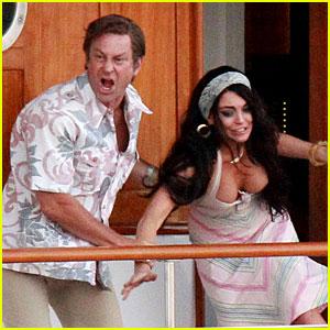 Lindsay Lohan: 'Liz & Dick' Fight Scene with Grant Bowler
