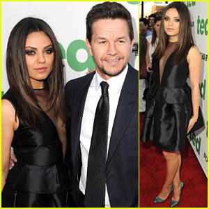 Mila Kunis & Mark Wahlberg Premiere 'Ted' in Hollywood!