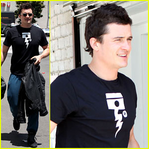 Orlando Bloom: Biker Boy in Beverly Hills!