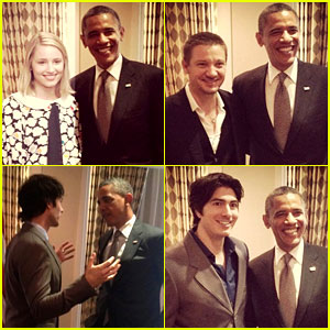 HOLLYWOOD KISSES OBAMA