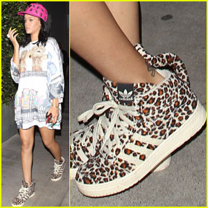 Rihanna: Leopard-print High Tops at Giorgio Baldi!