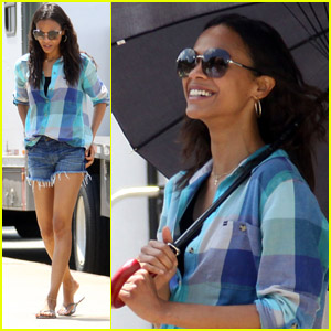 Zoe Saldana: Blue for 'Blood Ties'