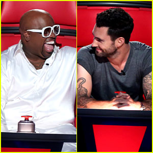 Adam Levine & Cee Lo Green: 'Voice' Season 3 Exclusive Pic!