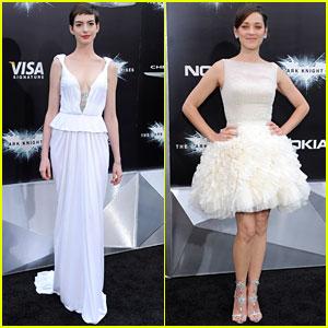 Anne Hathaway & Marion Cotillard: 'Dark Knight Rises' Premiere!