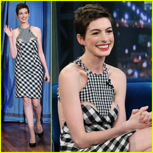 Anne Hathaway: 'Late Night' Appearance!