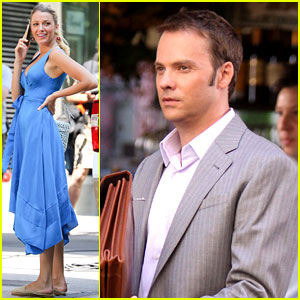 Blake Lively: 'Gossip Girl' Set with Barry Watson!