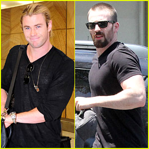 Chris Hemsworth & Chris Evans: Superhero Studs!