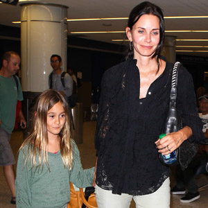 Courteney Cox & Coco: LAX Landing!