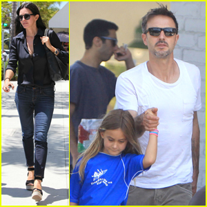 Courteney Cox: La Scala Lunch!