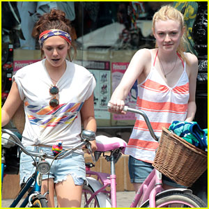 Dakota Fanning & Elizabeth Olsen: Big Apple Bicycles!
