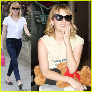 Emma Roberts: Teddy Bear Traveler