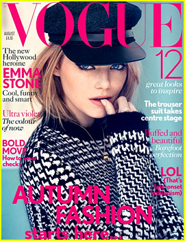 Emma Stone Covers 'British Vogue' August 2012