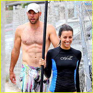 Eva Longoria: Malibu Beach with Shirtless Ernesto Arguello!