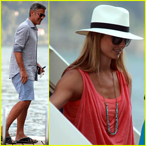George Clooney &#038; Stacy Keibler: Lake Como Couple!