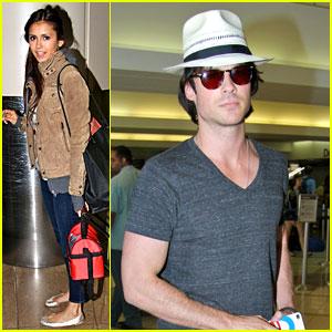 Ian Somerhalder & Nina Dobrev: 'Vampire Diaries' Season 4 Begins Filming!