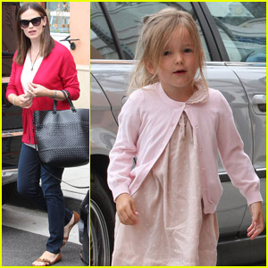 Jennifer Garner &#038; Seraphina: Salon Stop!