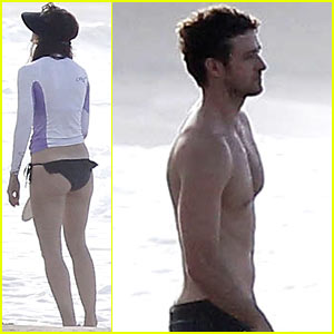 Jessica Biel &#038; Shirtless Justin Timberlake: Puerto Rico Beach Break!