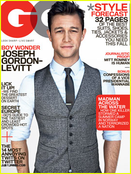 Joseph Gordon-Levitt Covers 'GQ' August 2012