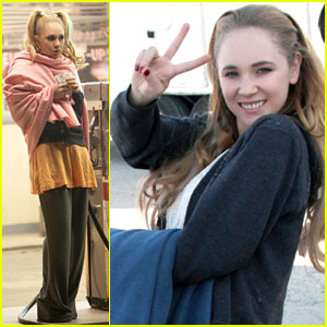 Juno Temple: 'Truck Stop' Set!