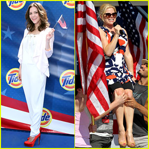 Katharine McPhee & Megan Hilty: Red, White, & 'Smash'!
