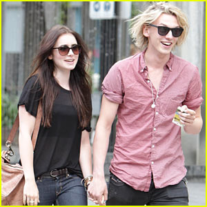 Lily Collins & Jamie Campbell Bower: Holding Hands!