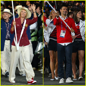 Maria Sharapova & Novaj Djokovic: Olympic Flag Bearers!
