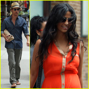 Matthew McConaughey & Family Leave NYC